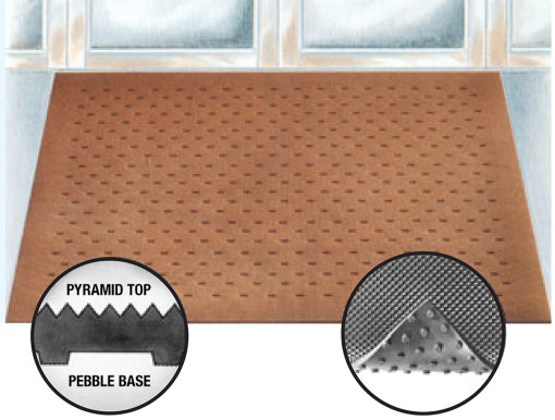 Pyramid-Top-Pebble-Base-Rubber-Entrance-Mat